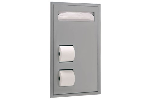 Bobrick B-3471,CLASSIC Partition Mounted Combination
