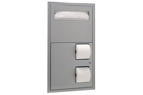 Bobrick B-3474,CLASSIC Recessed Combination