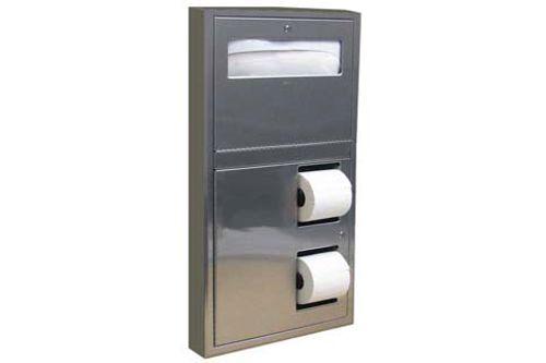 Bobrick B-3479,CLASSIC Zásobník na WC podložky a toaletní papír, nerez