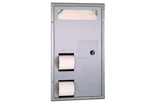 Bobrick B-3571 Partition-Mounted Combination
