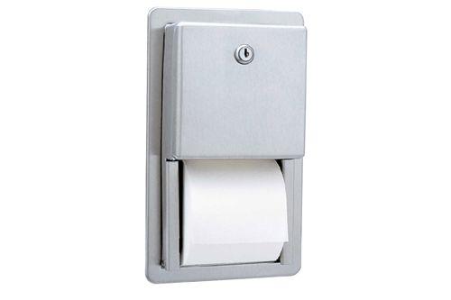 Bobrick B-3888,CLASSIC Recessed Toilet Tissue Dispenser