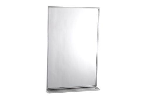Bobrick B-166 1824 Channel Frame Mirror and Shelf 610x460mm