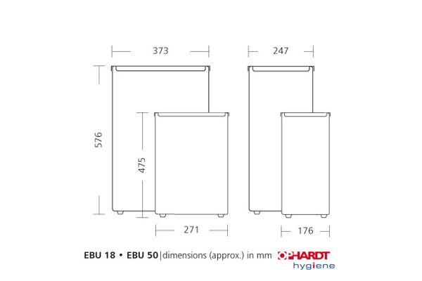SanTRAL EBU 50 E AFP Odpadkový koš 50 l, nerez AFP