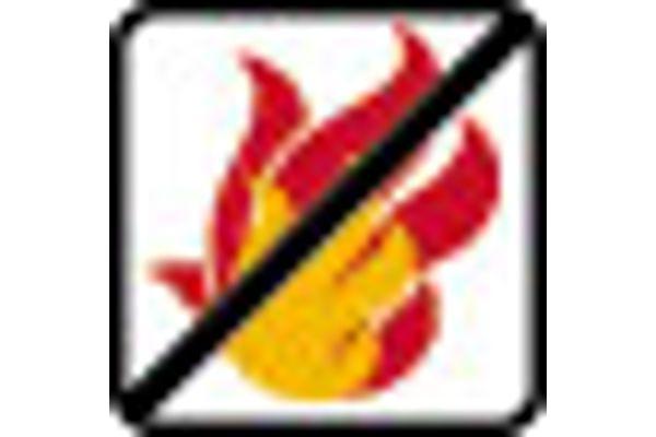 SanTRAL ABU 50 E FR AFP Waste Bin Fire-Reterdant 50 l