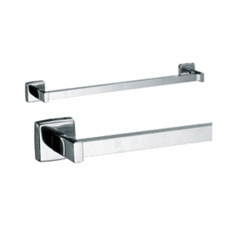 Bobrick 673x18 304 Stainless Steel Surface Mounted Square Towel Bar 18 Length Bright Finish