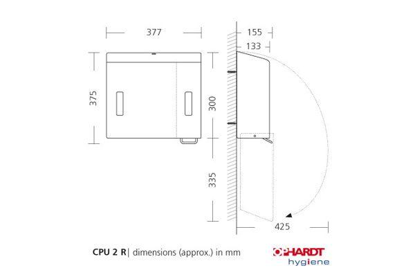 SanTRAL CPU 2R E/F AFP combinatie foamzeep/ZZ papier