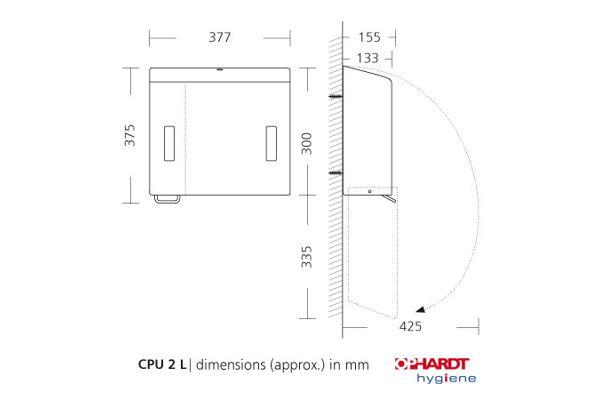 SanTRAL by OPHARDT CPU 2L E/S AFP combinatie zeep/ZZ papier
