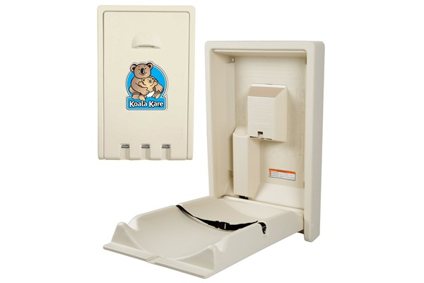 Koala Kare KB101-00-INB Vertical Baby Changing Station Cream