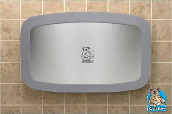 Koala Kare KB200-01SS-INB horizontale babytafel grijs/RVS