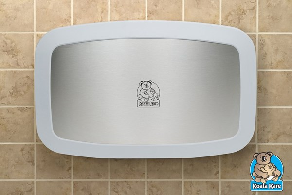 Koala Kare KB200-05SS-INB horizontale babytafel wit graniet/RVS
