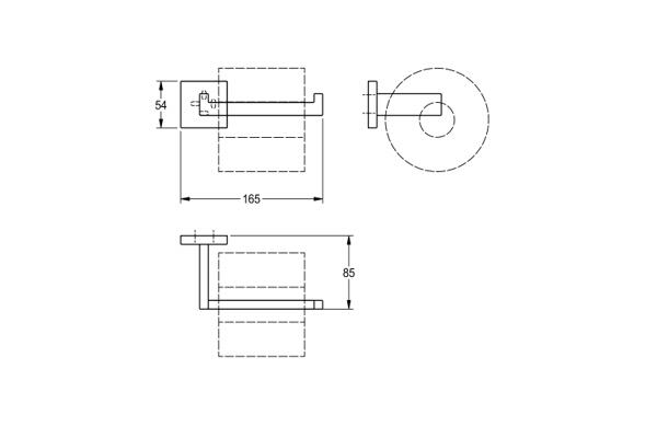 Franke CUBX211HP,CUBUS reserve toiletrolhouder