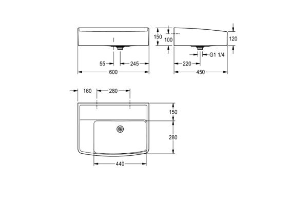 Franke ANMW323 Classroom basin