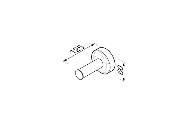 Geesa 915512,LUNA Porte-papier rouleau de réserve