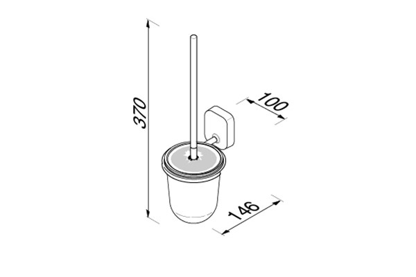 Geesa 912411-02,THESSA toiletborstelhouder, wandmodel