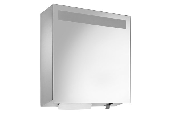 Wagner EWAR WP 650,A-LINE spiegelkast met zeep/ZZ papier