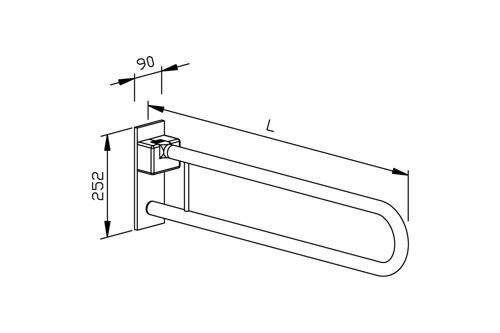 Wagner EWAR BF 670,TEXTURED opklapbare toiletsteun 850mm