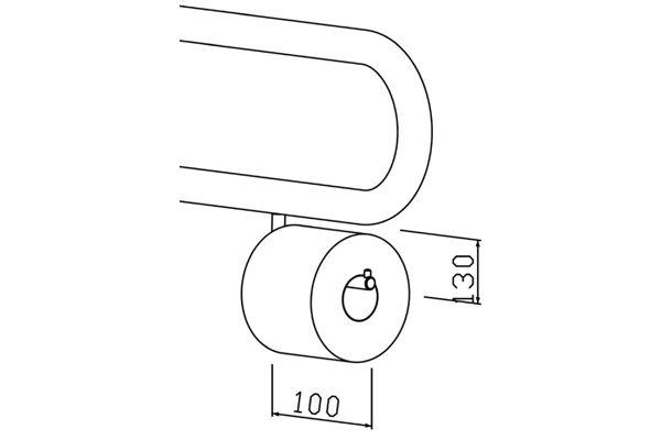 Wagner EWAR BA 010 toiletrolhouder voor toiletsteun