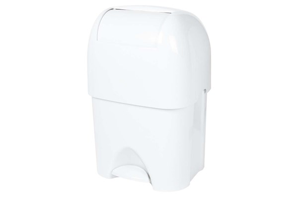 PlastiQ BAMBINA luierafvalbak 50 liter, wit