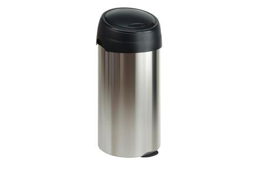 Vepa Bins 243705 ronde afvalbak met touchdeksel, 60 ltr