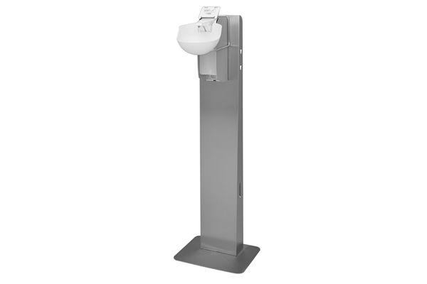 ingo-man plus Hygienický stojan s bezdotykovým dávkovačem dezinfekce 1000 ml, nerez AFP