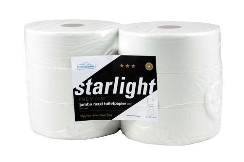 STARLIGHT 306411 Jumbo Toilet Tissue Rolls 6x350m