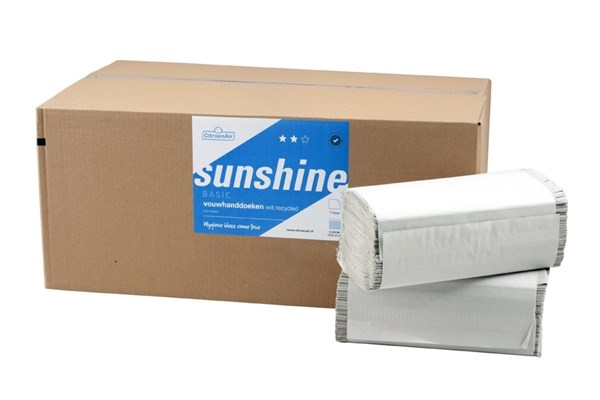 SUNSHINE,253131 ZZ handdoeken 5000 vel - 1 laags