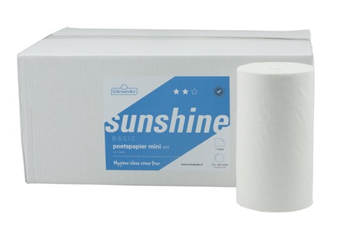 SUNSHINE 317051 Mini Centerfeed Wiping Paper 12x120m