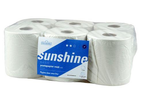 SUNSHINE 305781 poetsrollen centerfeed scheurhuls 6x300m