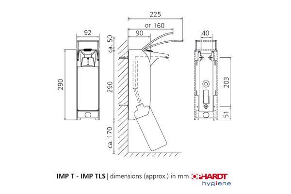 ingo-man plus IMP T A/24 Kurzer Bedienhebel 1000 ml