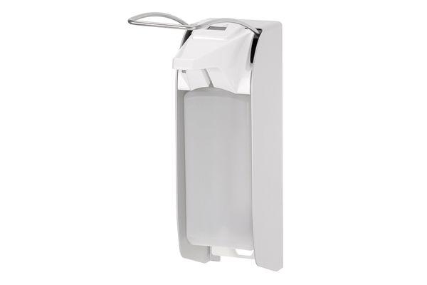 ingo-man plus Dávkovač mýdla a dezinfekce 500 ml, dlouhá páčka, hliník, s počitadlem