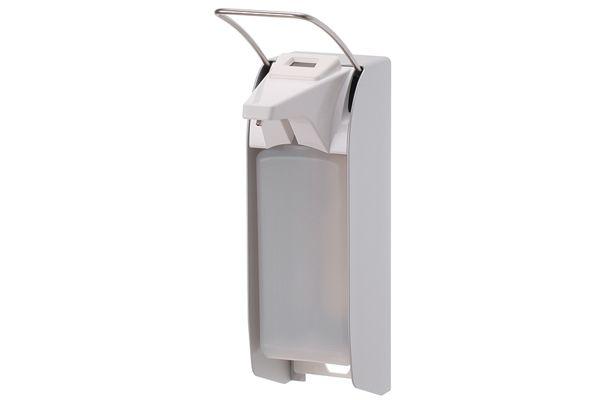 Dávkovač mýdla a dezinfekce s počitadlem 500 ml, krátká páčka, nerez
