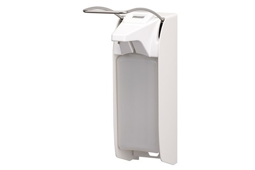 ingo-man plus Dávkovač mýdla a dezinfekce s počitadlem 1000 ml, dlouhá páčka, hliník