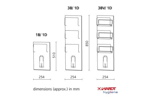 ingo-man by OPHARDT 3B/1D Glove Disp. 3 Boxes+500 ml Dispenser