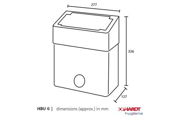 SanTRAL HBU 6 E AFP hygiëne afvalbak 6 liter