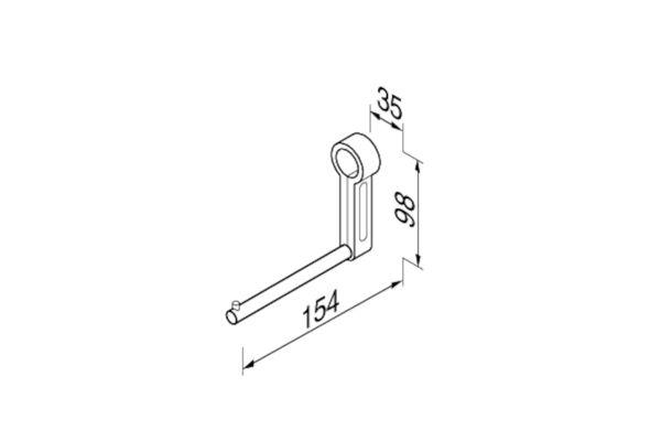 Geesa 915805-02,COMFORT toiletrolhouder voor 915804-02