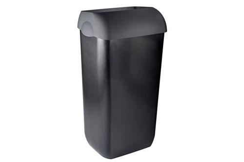 PlastiQline Exclusive PQXA43Z half open afvalbak 43 liter, zwart