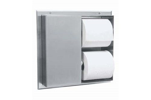 Bobrick B-386 Partition-mounted Toilet Tissue Disp.