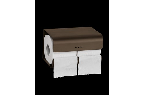 PROOX BR-382,ONE Bronze Double toilet roll holder