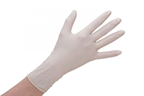LATEX PREMIUM Gloves Powderfree White 100 pcs. Size M