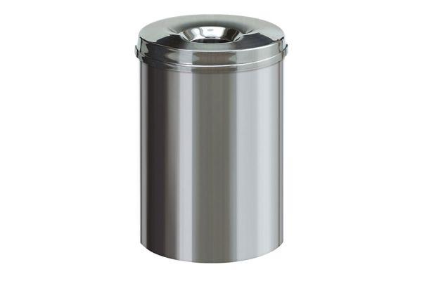 Vepa Bins 31032242 vlamdovende papierbak RVS 30 liter