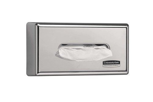 Kimberly-Clark 7820,PROFESSIONAL Facial Tissue Dispenser - Silver