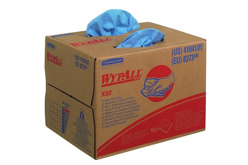 Kimberly-Clark 8373,WYPALL X80 Cloths - BRAG * Box / Steel Blue