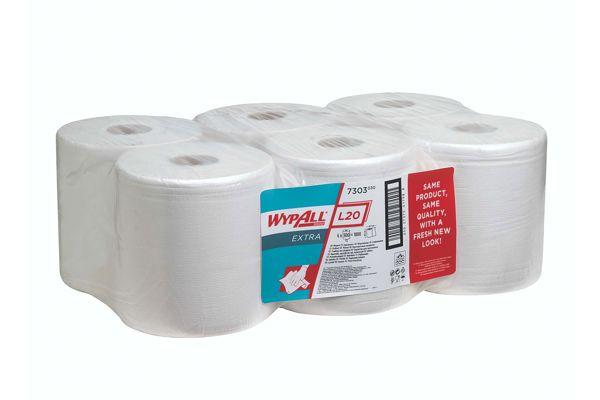 Kimberly-Clark WYPALL,7303 L20 EXTRA poetsdoeken 6x300 vel
