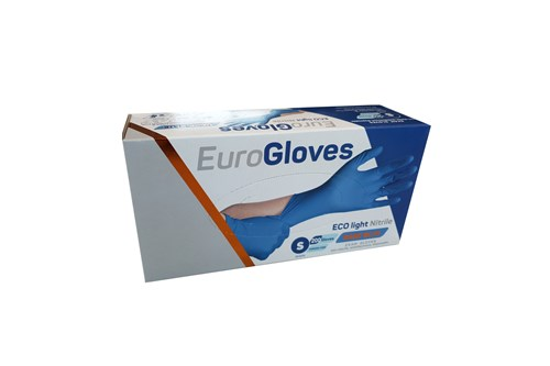 ECO NITRILE LIGHT S- 6/7 handschoenen blauw 10x200 stuks