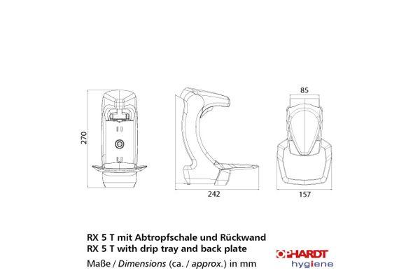 OPHARDT hygiene RX 5 T DHP (1.5 ml) wandmodel lekbak