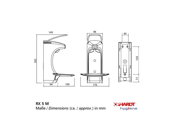 OPHARDT Hygiene Long Operating Lever 500 ml Locking