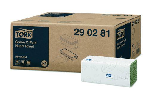 Tork 290281,ADVANCED H3 C handdoeken 20x120 vel groen