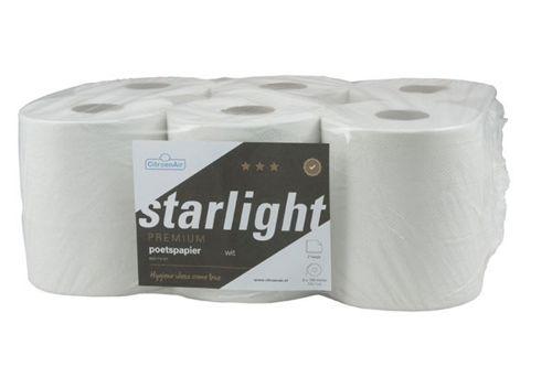 STARLIGHT 316751 poetsrollen centerfeed scheurhuls 6x138m