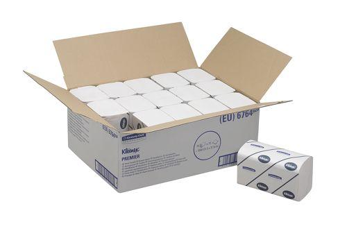 Kimberly-Clark 6764,KLEENEX PREMIER Hand Towels - Interfolded / Whit