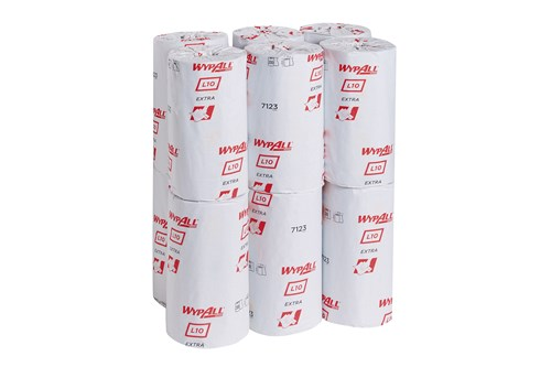 Kimberly-Clark 7123,WYPALL L10 EXTRA Wipers - Small Roll / Blue